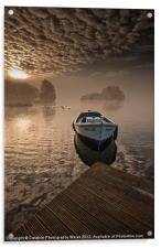 Llangorse Lake misty dawn, Acrylic Print