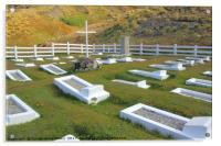 Cemetery at Grytvikin, South Georgia, Acrylic Print