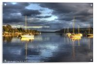 Boats at rest on Windermere, Acrylic Print