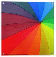 Arty rainbow umbrella!, Acrylic Print