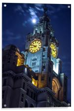 Top of the tower at Liverpool, Acrylic Print