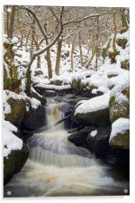 Winter In Padley Gorge, Acrylic Print