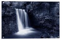 Peak District Waterfall, Acrylic Print