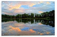 Chard Reservoir at Dawn, Acrylic Print
