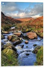 Burbage Brook in Autumn, Acrylic Print