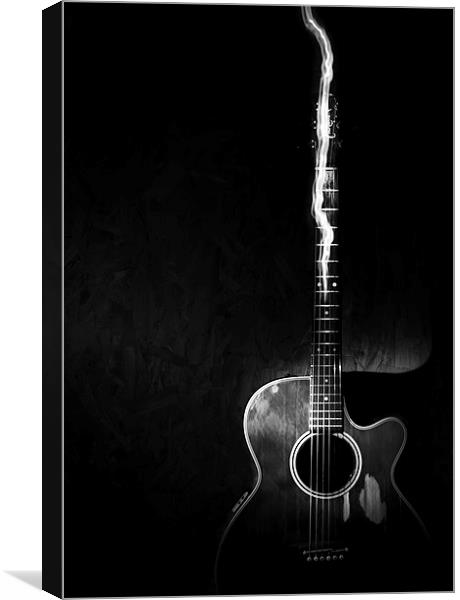 acoustic guitar black and white canvas print by canvas landscape peter o 39 connor. Black Bedroom Furniture Sets. Home Design Ideas