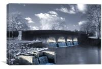 The 5 arches, Footscray Meadows, Canvas Print