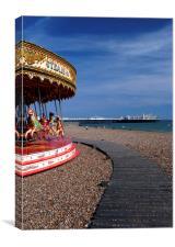 Brighton beach, Canvas Print