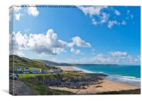The view to Woolacombe, Canvas Print