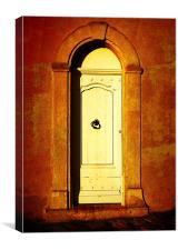 Hot door, Canvas Print