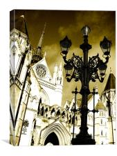 Royal Courts of Justice, Canvas Print