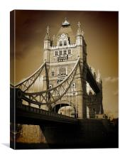 Tower Bridge Sepia (1), Canvas Print