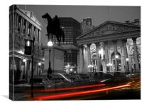 Bank of England & Royal Exchange, London, Canvas Print
