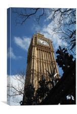 Big Ben In Colour, Canvas Print