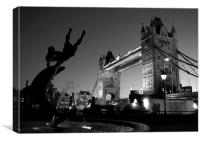 Tower Bridge Black & White (3), Canvas Print