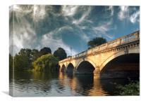 Bridge over the Serpentine , Canvas Print