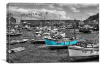 Little blue boats, Canvas Print