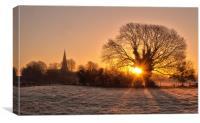 A Winters dawn, Canvas Print