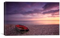 Beached Sunset, Canvas Print