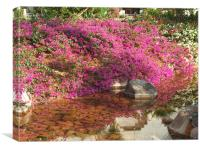 The Flowered River Bank, Canvas Print