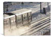 Frozen Railway Carriage, Scotland., Canvas Print