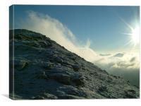 Ben Dorain, The Mountain meets the cloud., Canvas Print