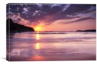 Trayarnon Bay Sunset, Canvas Print