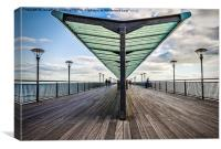 Boscombe Pier Bournemouth, Canvas Print