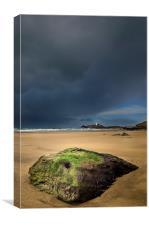 Godrevy Beach Storm, Canvas Print