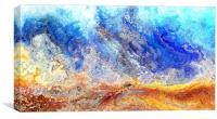 Fiery sea, Canvas Print