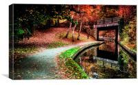 Llangollen Canal, Canvas Print