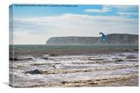 Kite Surfing., Canvas Print