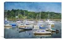 Bembridge Harbour., Canvas Print
