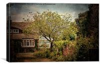 English Country Garden., Canvas Print