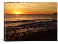 Sunset on the Beach, Canvas Print