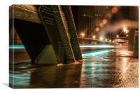 Lights Trails on the Tyne Bridge, Canvas Print