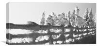 Snow scape, Canvas Print
