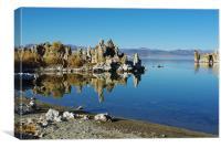 Mono Lake shore and tufa formations, California, Canvas Print
