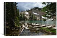 Small mountain lake in Colorado Rockies, Canvas Print