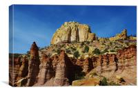 Fantastic colors in rock towers and walls, Canvas Print