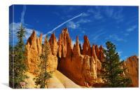 Fantastic orange rock towers, Bryce, Utah, Canvas Print