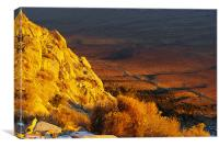 Sunrise from the Sierra, Canvas Print