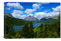 Lower Two Medicine Lake, Montana, Canvas Print