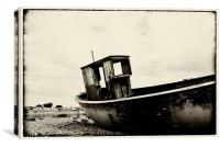 Old Boat in Dungeness, Canvas Print
