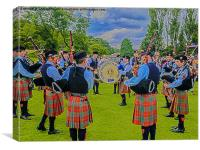 Strathendrick Pipe Band, Canvas Print