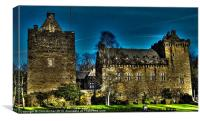 Dramatic Dean Castle, Canvas Print
