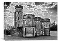Eglinton Castle Dramatic Monochrome, Canvas Print
