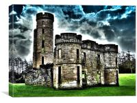 Surreal Dramatic Eglinton Castle, Canvas Print