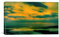 Hazy Ayrshire Sunset, Canvas Print
