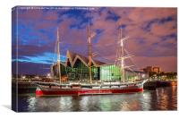 Riverside Museum Tall Ship, Canvas Print